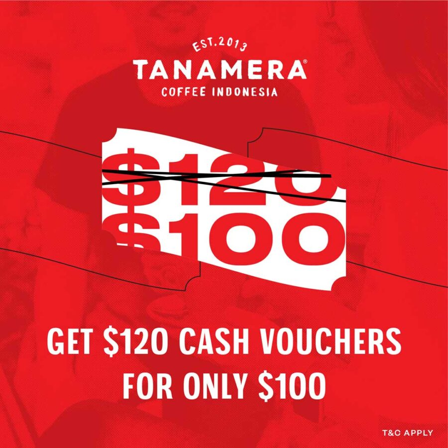 $120 cash vouchers for only $100